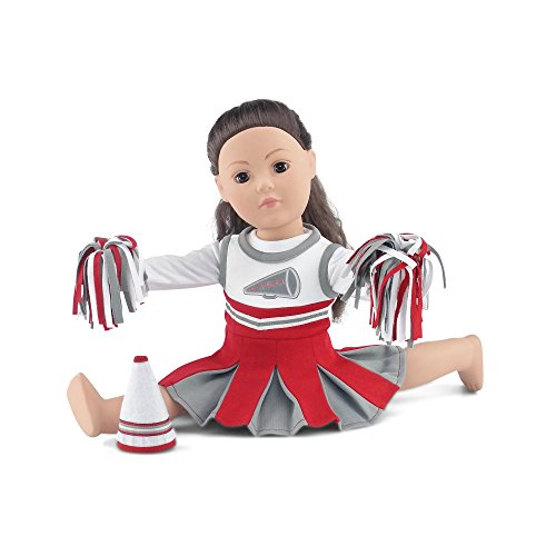 18 Inch Doll Clothes | Amazing Team OSU-Inspired Scarlet and Grey Cheerleading Outfit,... by Emily Rose Doll Clothes