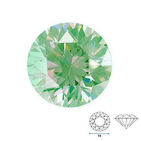 - Round Shape Imitation Peridot Faceted Gemstone Sized 14 mm