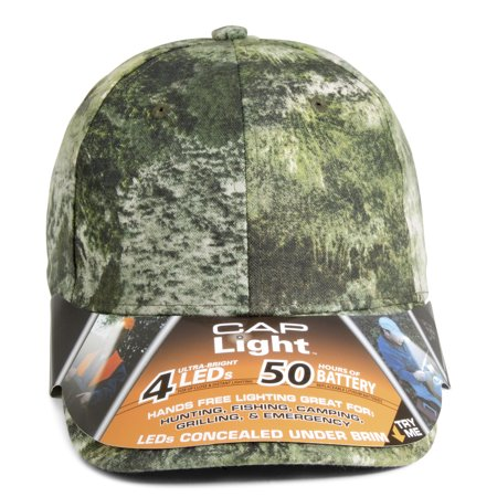 Cap Light 4 LED Camo Cap
