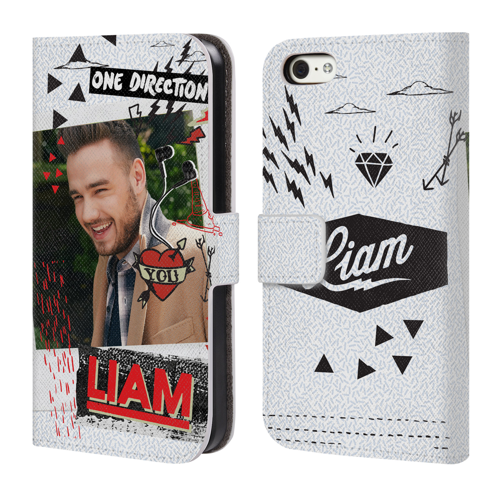 OFFICIAL ONE DIRECTION MIDNIGHT MEMORIES SHOTS LIAM LEATHER BOOK WALLET CASE COVER FOR APPLE IPHONE PHONES