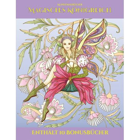 Kunstmalbücher: Kunstmalbücher (Magisches Königreich): Dieses Buch besteht aus 40 Malblätter, die zum Ausmalen, Einrahmen und/oder Meditieren verwendet werden können: Dieses Buch kann fotokopiert, ged (Können E-geschenk-karten Verwendet Werden, Speichern)