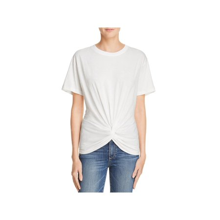 7 For All Mankind Womens Cotton Knotted Front T-Shirt 7 For All Mankind Shirts
