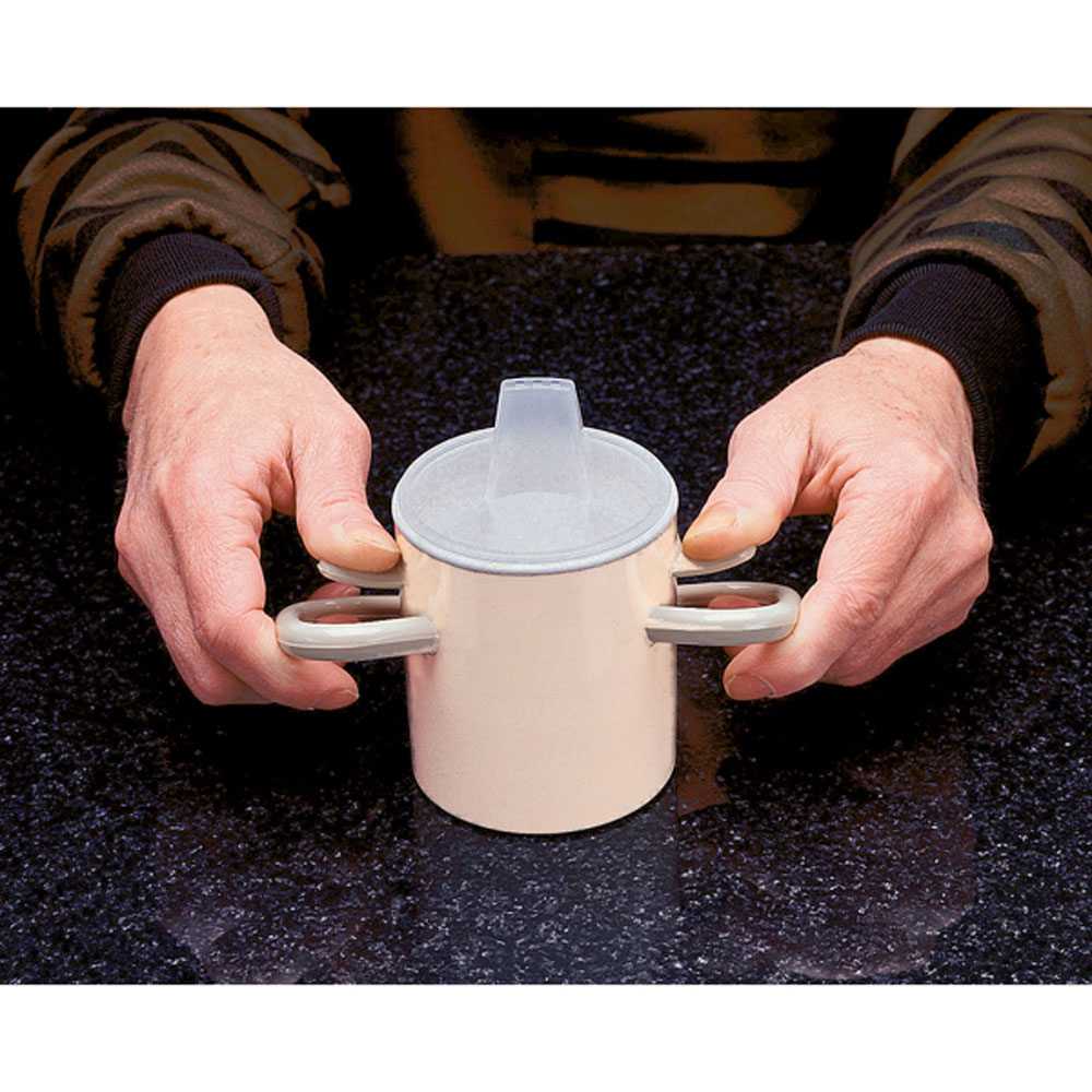 Arthro Thumbs-Up Cup by Maddak Inc,Tan,8.000 OZ MDSF1100