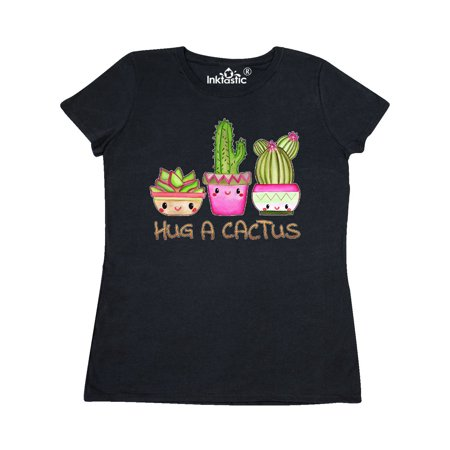 Hug a Cactus- cute Women's T-Shirt (Kaktus Clothing)