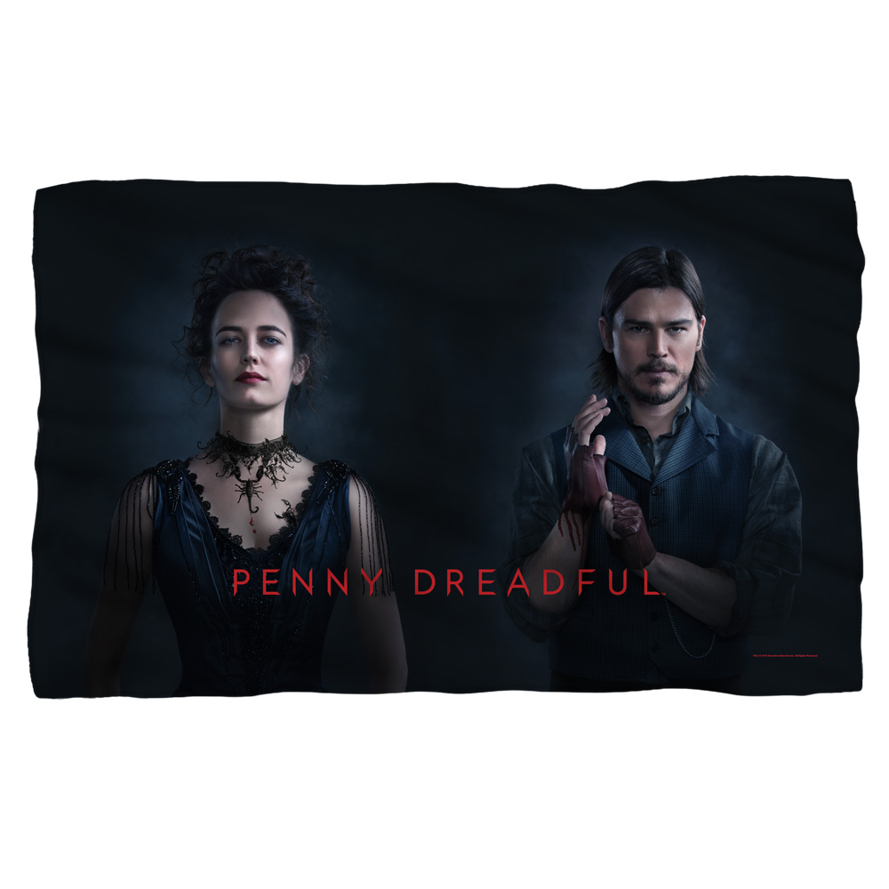 Penny Dreadful Chandler And Ives Fleece Blanket White 48X80