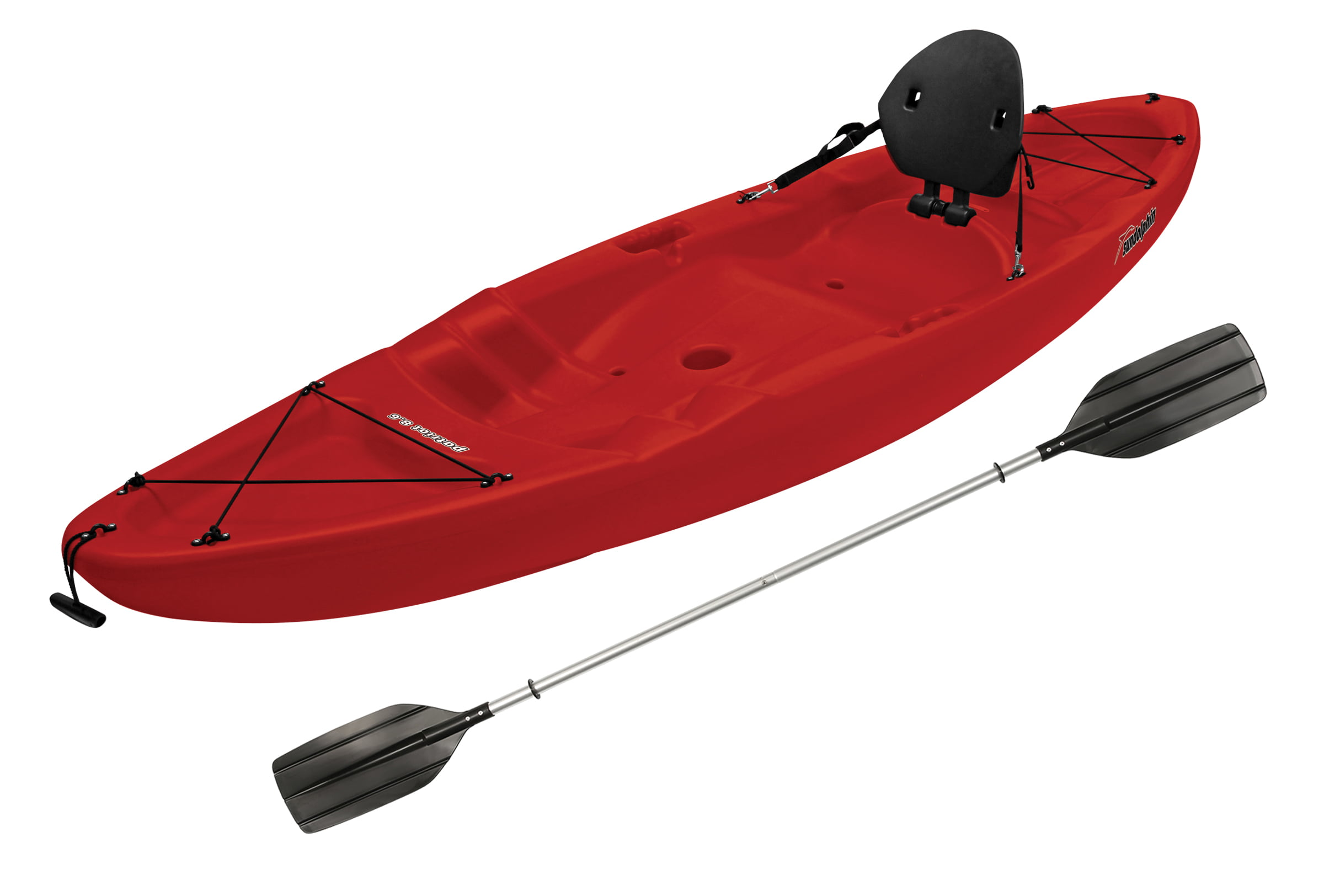 Sun Dolphin Patriot 8.6 Sit-On Kayak Red, Paddle Included by KL Outdoor
