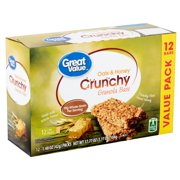 Great Value Oats & Honey Crunchy Granola Bars Value Pack 1.48 oz 12 count