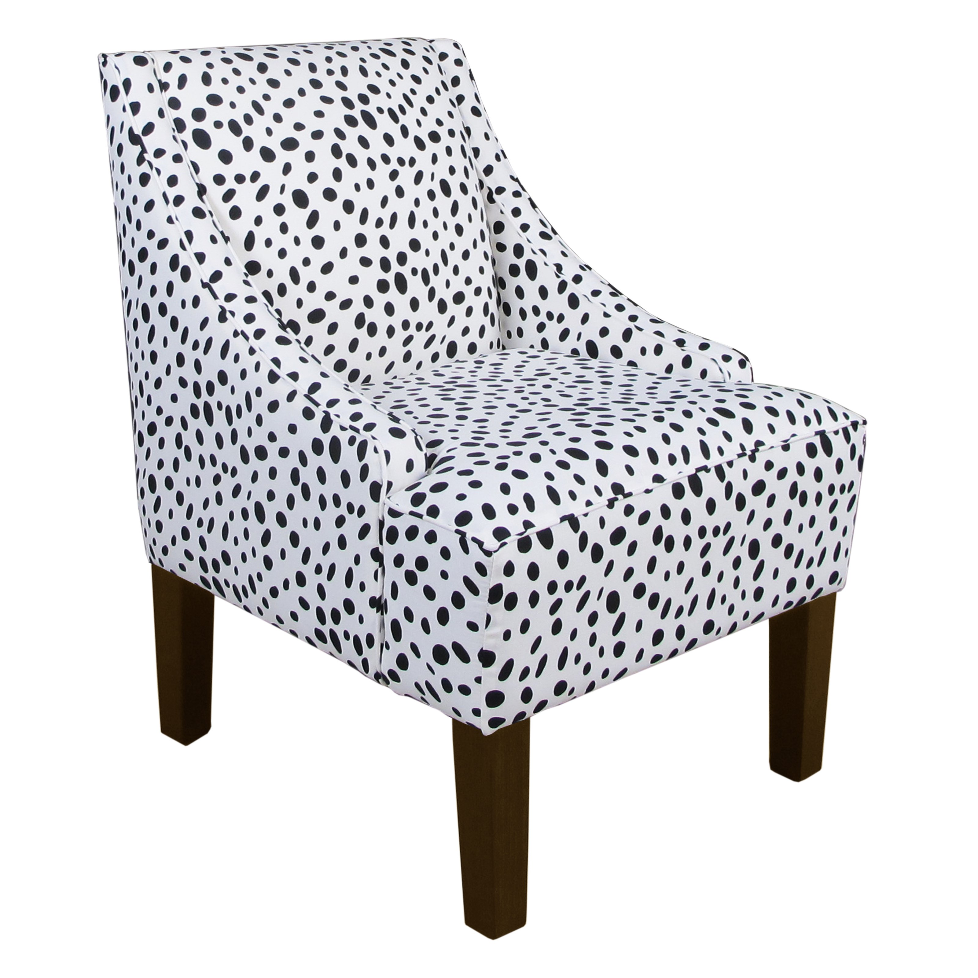 Superbe Skyline Swoop Arm Chair In Togo Black And White   Walmart.com