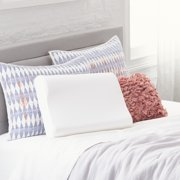Comfort Revolution Originals Contour Memory Foam Bed Pillow with Removable Cover