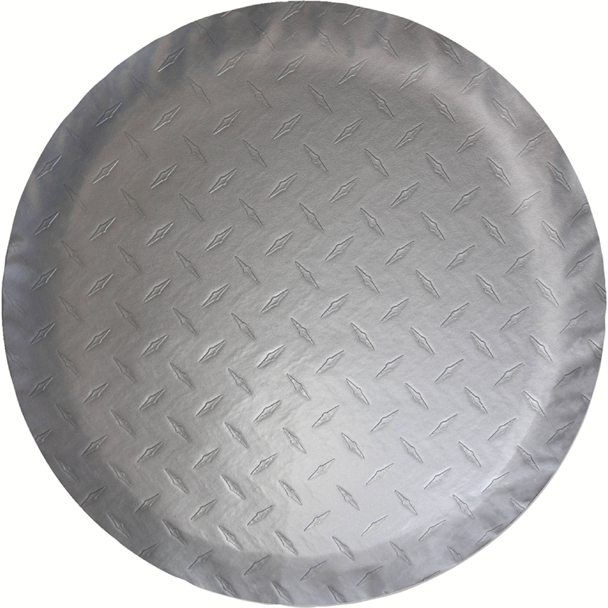 ADCO Diamond Plated Steel Vinyl (Silver) Tire Cover