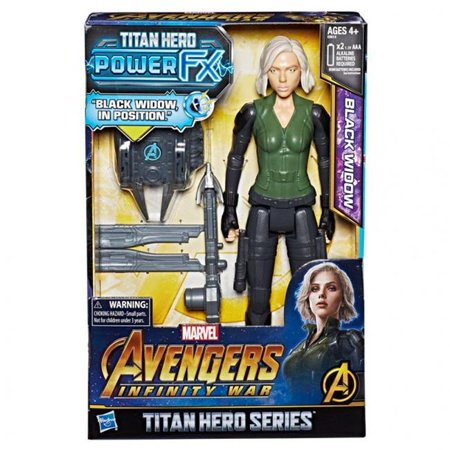 Hasbro HSBE0614 12 in. Avengers Titan Hero Power Tech Black Widow Toy - Set of (Avengers Age Of Ultron Titan Hero Tech)
