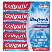 5-Pack Colgate MaxFresh Toothpaste,7.6 oz (Cool Mint)