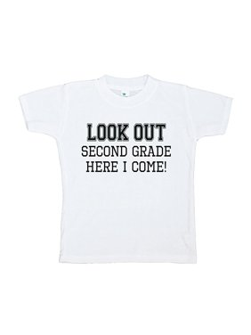 Custom Party Shop Kids Look Out 2nd Grade T-shirt - X-Large / 18-20
