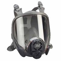6000 Series Full Facepiece Respirators, Large, DIN Thread Port, Sold As 1 Each