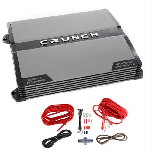 Crunch GPA1100.2 1100 Watt 2 Channel Amp A/B Car Stereo Amplifier + Wiring Kit