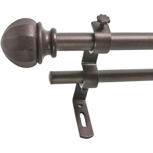 "Montevilla 5 8"" Facet Ball Double Curtain Rod Set by Generic"