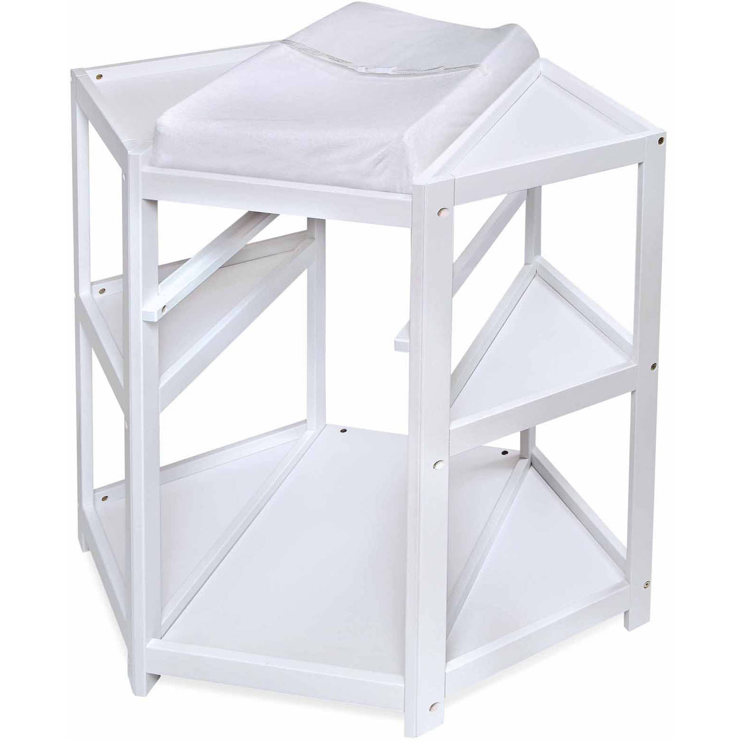 badger basket diaper corner baby changing table with hamper and  - badger basket diaper corner baby changing table with hamper and basketwhite  walmartcom