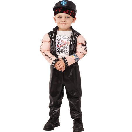 Muscle Man Biker Baby Boy Gangster Child Halloween Costume