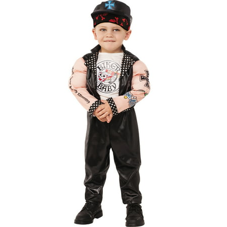 Muscle Man Biker Baby Boy Gangster Child Halloween Costume](Halloween Gangster Couple Costumes)