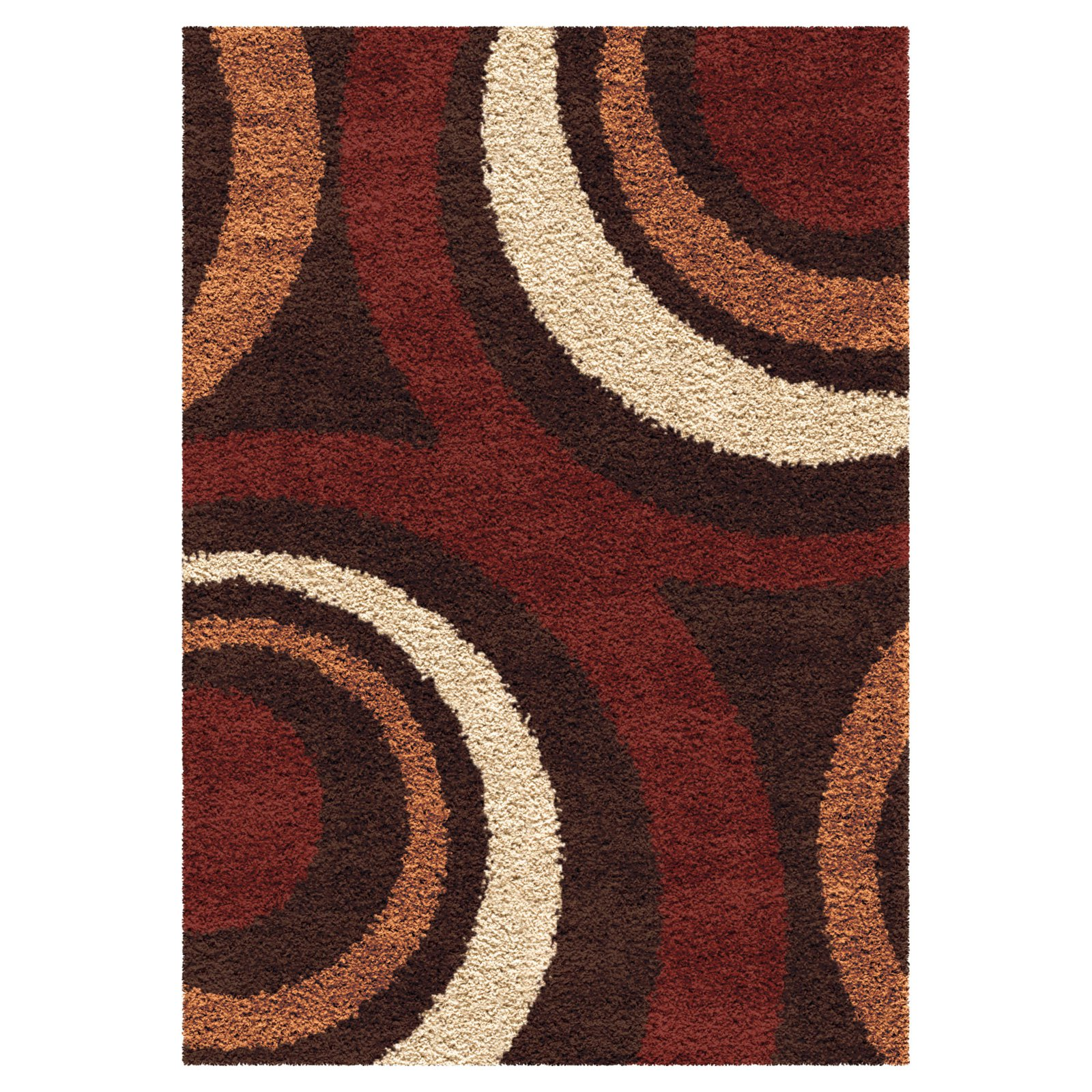 Orian Rugs Circles Fire Hole Shag Area Rug