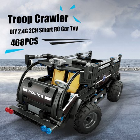 BB13008 468PCS DIY Troop Crawler 2.4G Remote Control Building Block RC Car (Ken Block Remote Control Car For Sale)