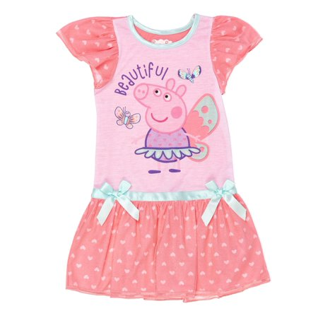 Peppa Pig Fairy princess ruffle shimmer nightgown (toddler - Girls Nightgown Cotton