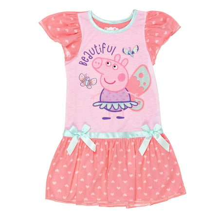 Peppa Pig Fairy princess ruffle shimmer nightgown (toddler girls)