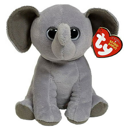 55f59c21e97 TY Beanie Baby - SAHARA the Elephant (All Grey Ears) (6 inch) - Walmart.com