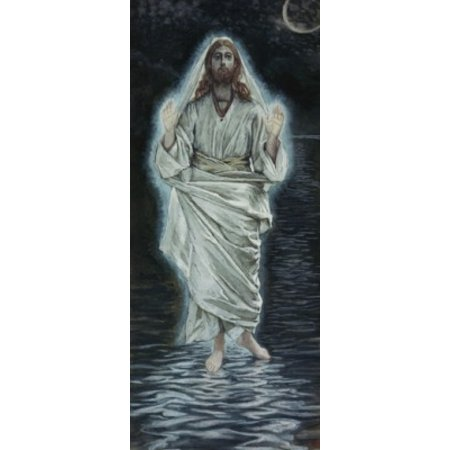 Jesus Walking on the Sea James Tissot (1836-1902 French) Stretched Canvas -  James Tissot (24 x 36)