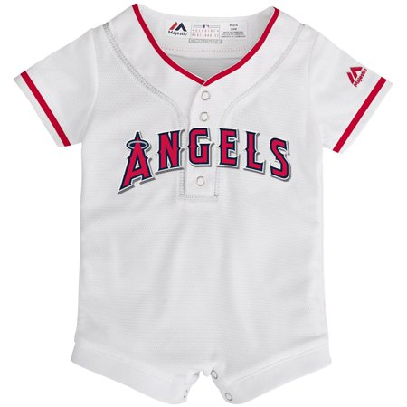 Los Angeles Angels Majestic Newborn & Infant Home Cool Base Jersey Romper - White (Bass Romper)