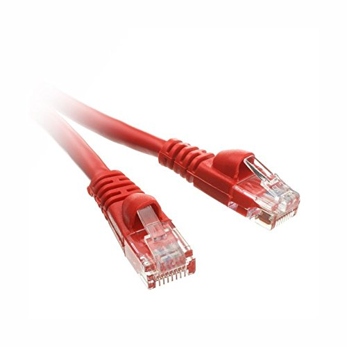 C&E Cat5e Ethernet Patch Cable, Snagless/Molded Boot 100 Feet Red