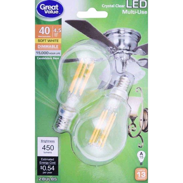 Crystal Clear Multi Use Led Light Bulbs