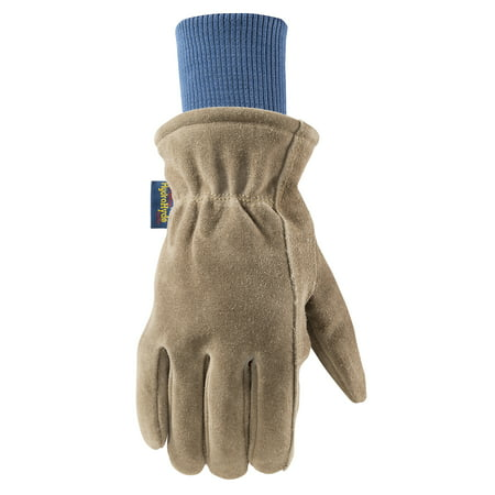 Mens HydraHyde Insulated Split Leather Winter Work Gloves, Extra Large (Wells Lamont 1196XL)