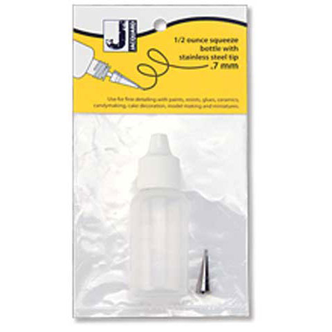 Jacquard - Small Applicator Bottle - 1/2 fl. oz./14ml Plastic Bottle with .9mm Metal Tip