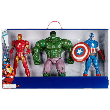 Avengers  Marvel Action Figure Gift Set [Iron Man, Hulk & Captain America] - Marvel Hulk Hands
