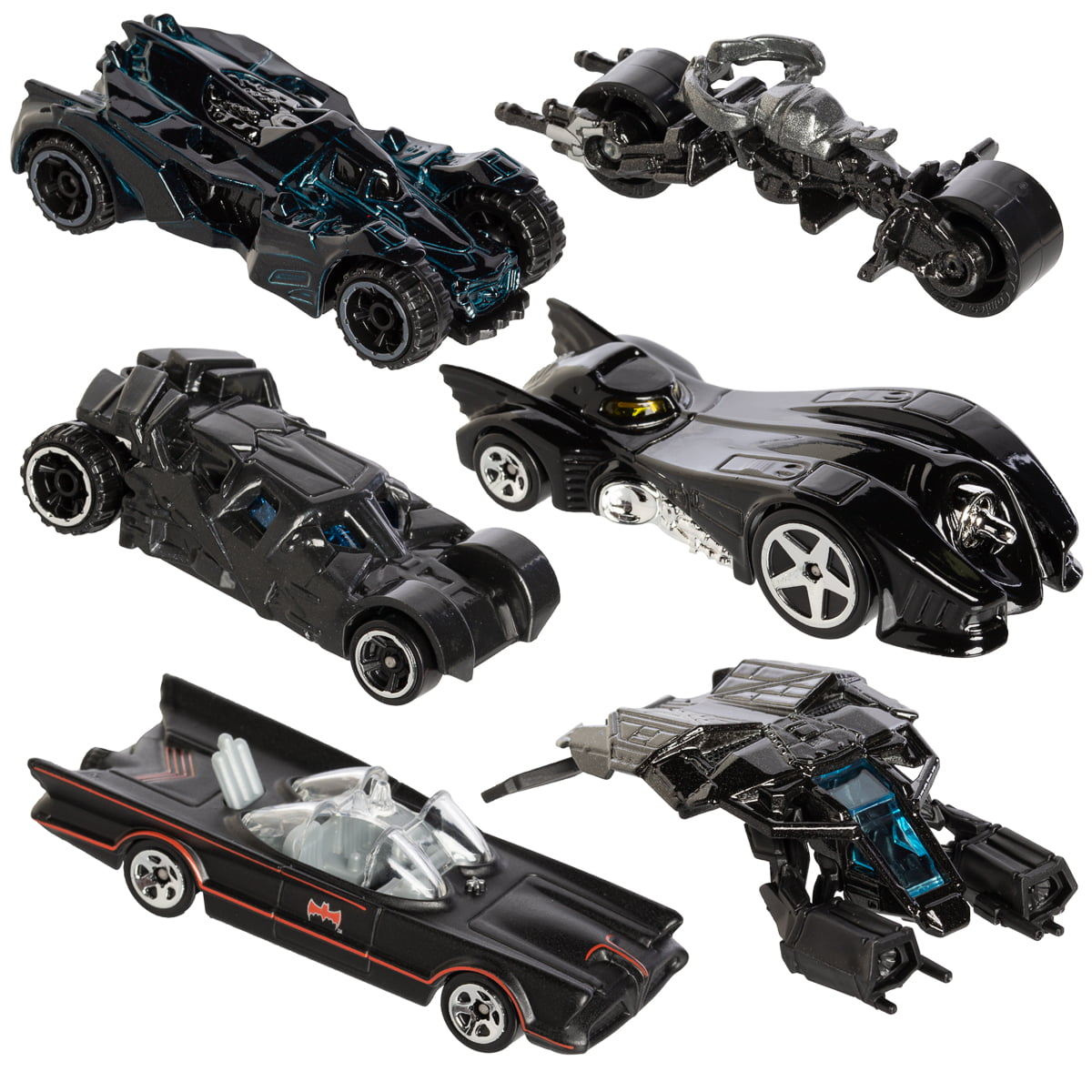 Hot Alloy Wheels Cars Set Comics Batman Batmobile Die-Cast Cars Toys Kids Gift