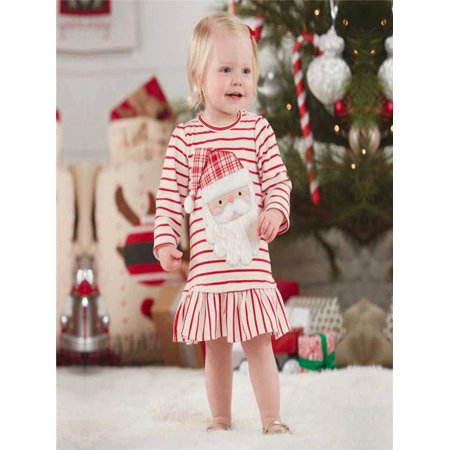 Christmas Outfits.Toddler Kids Baby Girls Striped Princess Dress Christmas Outfits Clothes