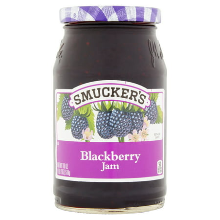 (2 Pack) Smucker's Blackberry Jam, 18 oz ()