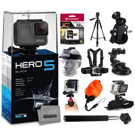 gopro hero5 black chdhx 501 with 32gb ultra memory 60 pro series tripod bike motorcycle. Black Bedroom Furniture Sets. Home Design Ideas