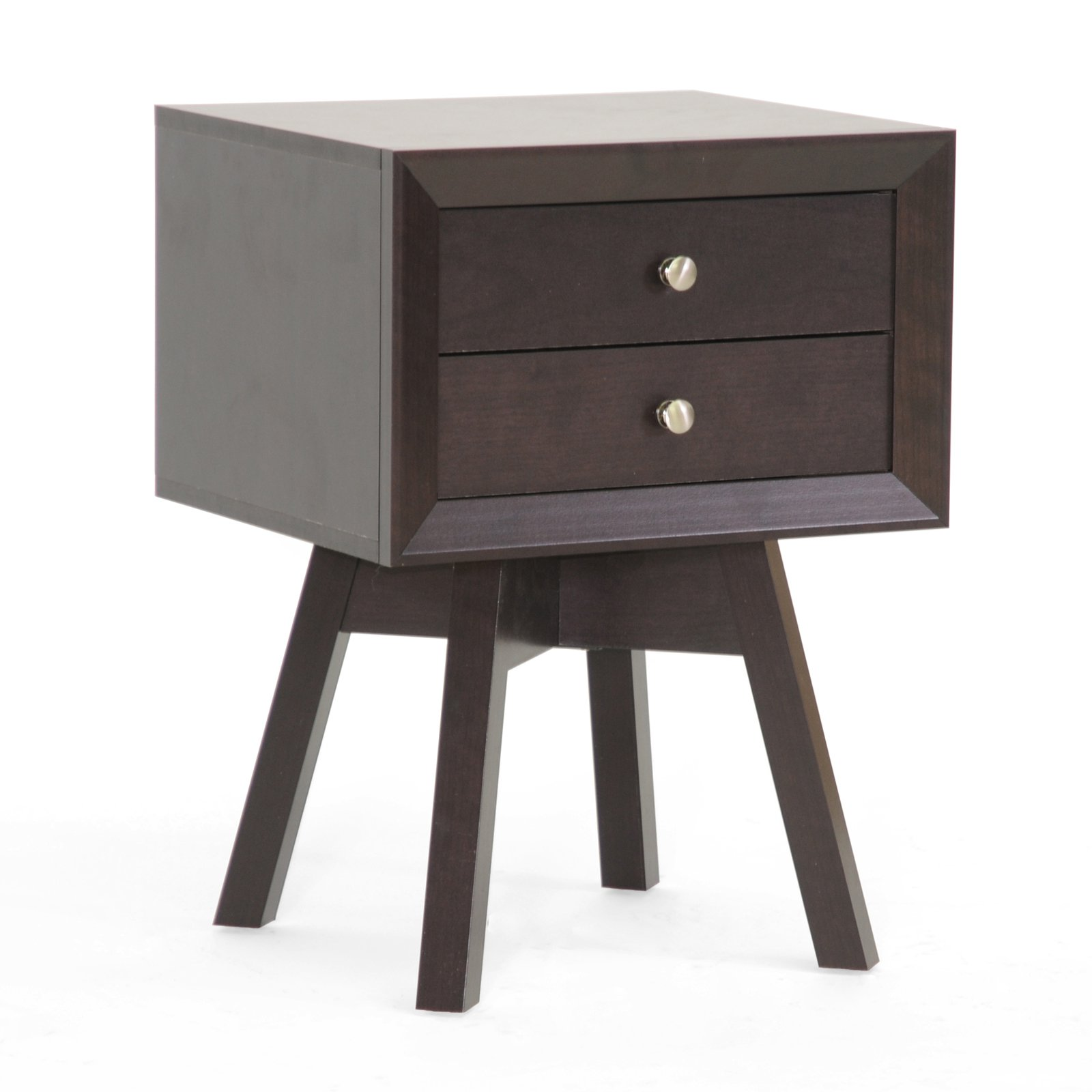 Baxton Studio Warwick 2 Drawer Nightstand