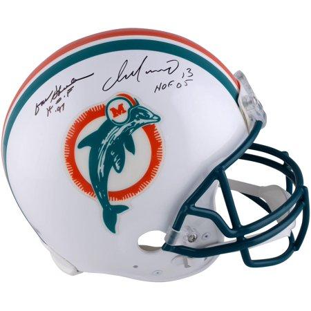 Dan Marino Autographed Pro Football (Dan Marino & Don Shula Miami Dolphins Autographed Throwback 1980-1996 Pro-Line Helmet - Fanatics Authentic Certified)