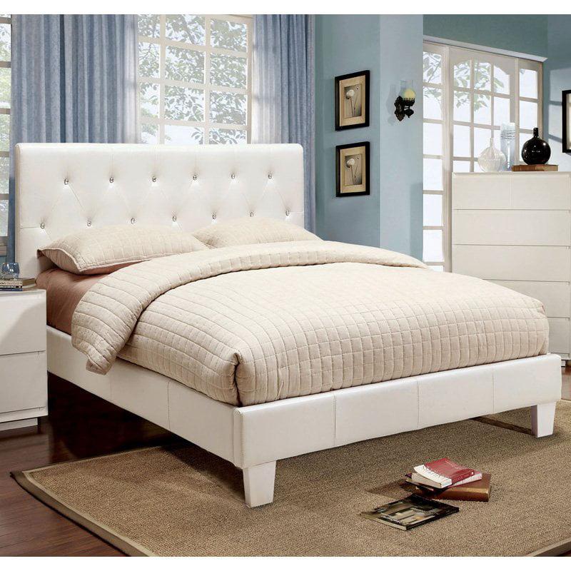 Furniture of America Avara Rhinestone Tufted Platform Bed