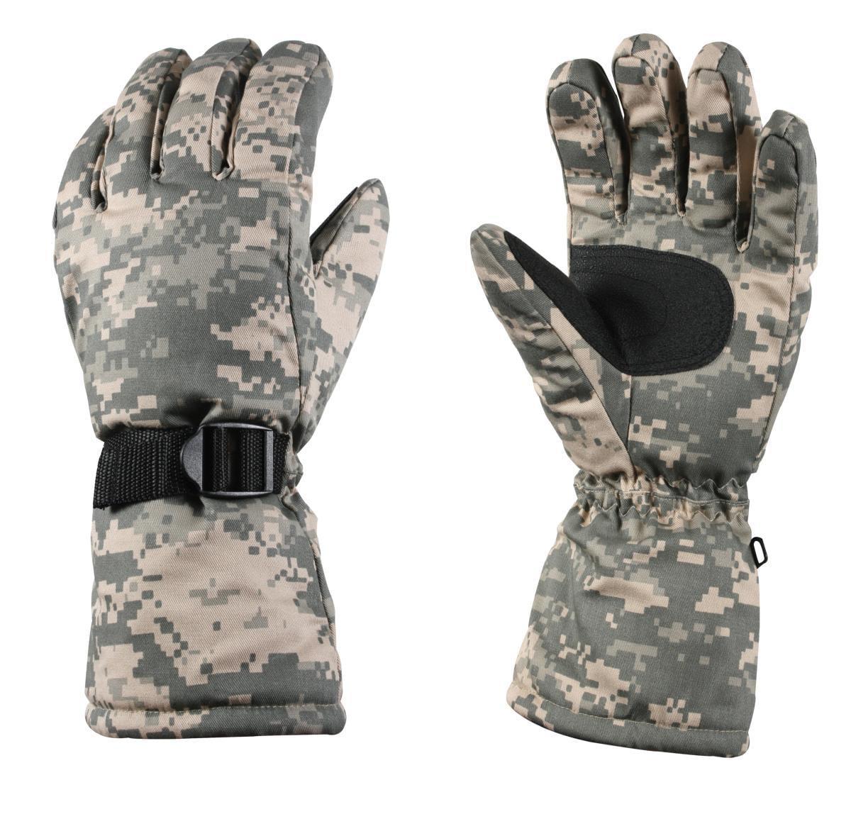 Rothco 4755 Xtra-Long Army Digital Camo Insulated Gloves, Medium by Rothco