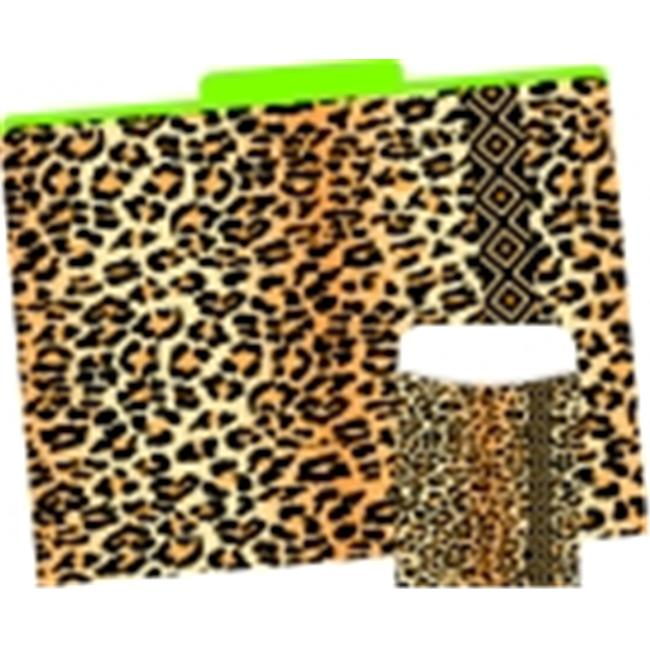 Barker Creek 0.33 Cut Leopard File Folder And Library Pocket Set - 12 in. - Set 42