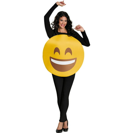 Smile Emoticon Neutral Adult Halloween Costume for $<!---->