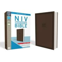 NIV, Value Thinline Bible, Large Print, Imitation Leather, Brown