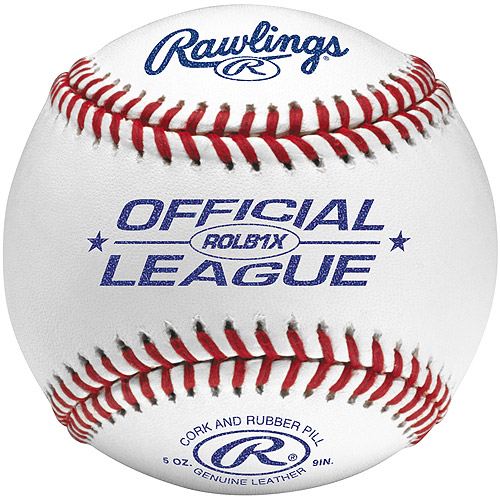 Rawlings ROLB1X Official League Practice Ball- 1 Dozen (12 Baseballs) by Rawlings