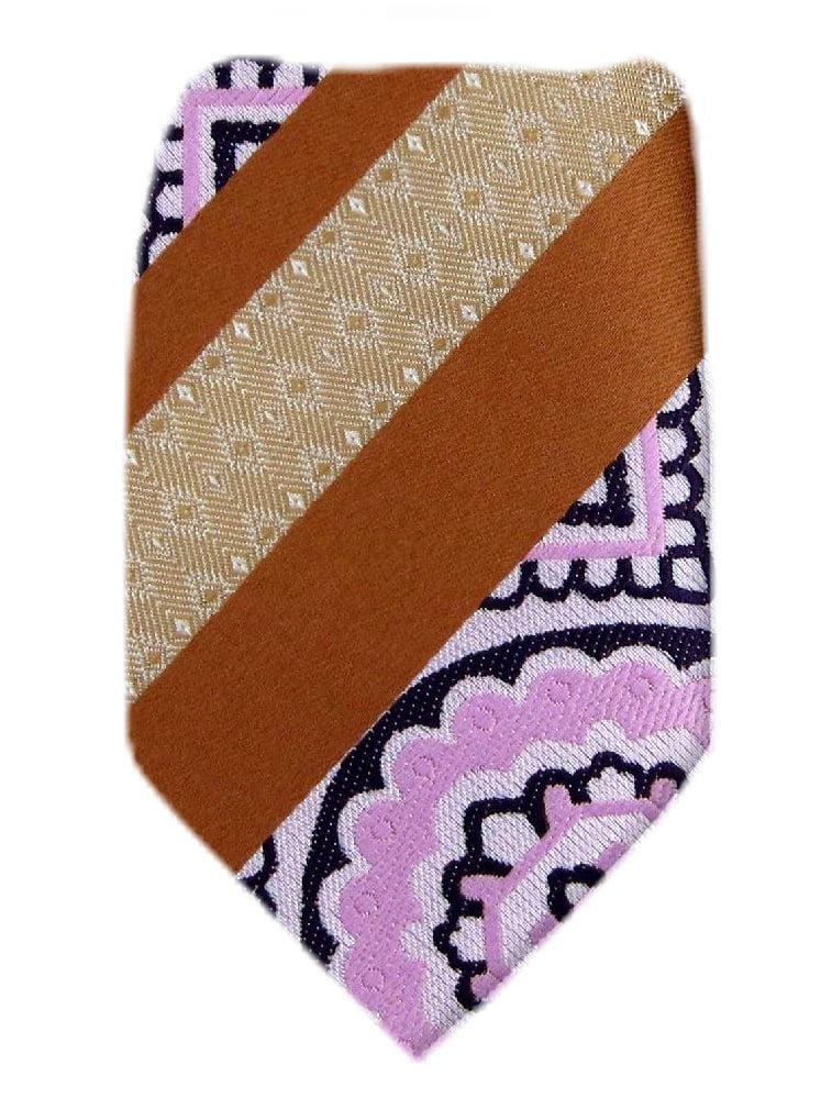 BuyYourTies - Bronze  Pink Purple Boys Fashion Necktie
