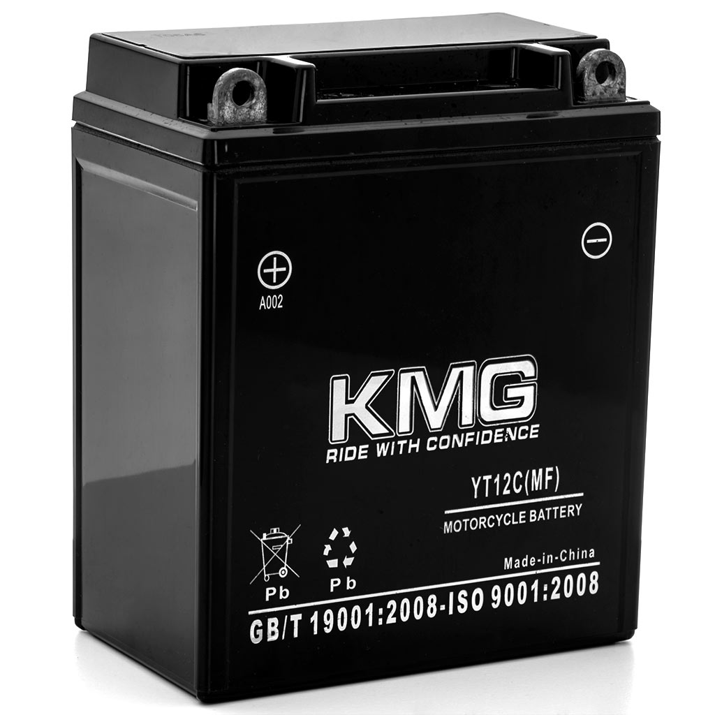 KMG 1982-1983 Honda CM450A Hondamatic, E YT12C Sealed Maintenance Free Battery 12V Powersport Motorcycle Scooter ATV