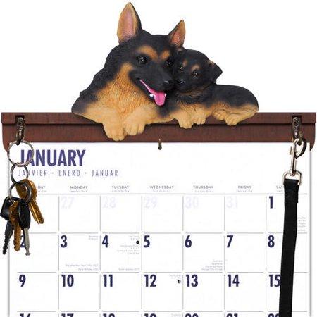 German Shepherd Calendar Caddy & Leash Hook,  by DogBreedStore.com